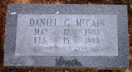 MCCAIN, DANIEL G - Ashley County, Arkansas | DANIEL G MCCAIN - Arkansas Gravestone Photos