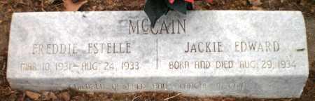 MCCAIN, JACKIE EDWARD - Ashley County, Arkansas | JACKIE EDWARD MCCAIN - Arkansas Gravestone Photos