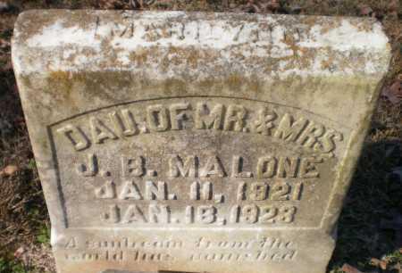 MALONE, MARILYNN - Ashley County, Arkansas | MARILYNN MALONE - Arkansas Gravestone Photos