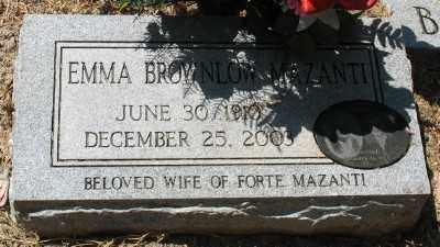 BROWNLOW MAZANTI, EMMA - Ashley County, Arkansas | EMMA BROWNLOW MAZANTI - Arkansas Gravestone Photos
