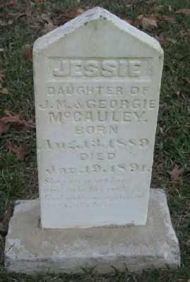 MCCAULEY, JESSIE - Ashley County, Arkansas | JESSIE MCCAULEY - Arkansas Gravestone Photos