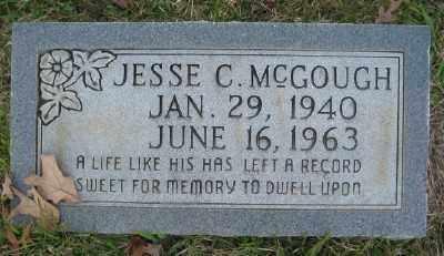 MCGOUGH, JESSE C. - Ashley County, Arkansas   JESSE C. MCGOUGH - Arkansas Gravestone Photos
