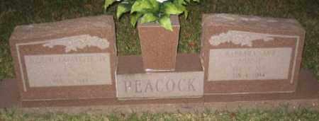 "WILLIAMSON PEACOCK, BARBARA ""BOBBIE"" - Ashley County, Arkansas | BARBARA ""BOBBIE"" WILLIAMSON PEACOCK - Arkansas Gravestone Photos"