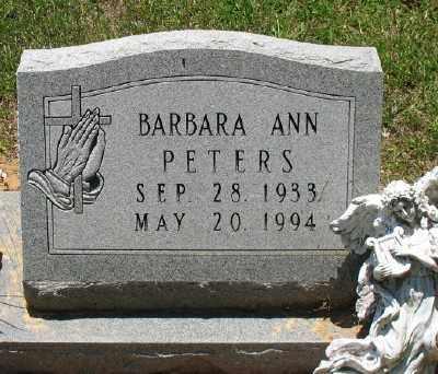PETERS, BARBARA ANN - Ashley County, Arkansas | BARBARA ANN PETERS - Arkansas Gravestone Photos