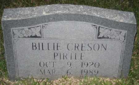 CRESON PIRTLE, BILLIE - Ashley County, Arkansas | BILLIE CRESON PIRTLE - Arkansas Gravestone Photos