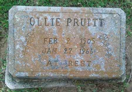 PRUITT, OLLIE - Ashley County, Arkansas | OLLIE PRUITT - Arkansas Gravestone Photos