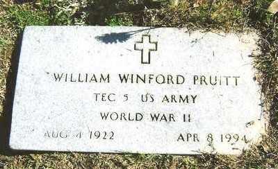 PRUITT (VETERAN WWII), WILLIAM WINFORD - Ashley County, Arkansas | WILLIAM WINFORD PRUITT (VETERAN WWII) - Arkansas Gravestone Photos