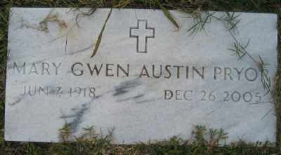 AUSTIN PRYOR, MARY GWEN - Ashley County, Arkansas | MARY GWEN AUSTIN PRYOR - Arkansas Gravestone Photos