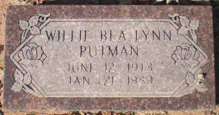 LYNN PUTMAN, WILLIE BEA - Ashley County, Arkansas | WILLIE BEA LYNN PUTMAN - Arkansas Gravestone Photos