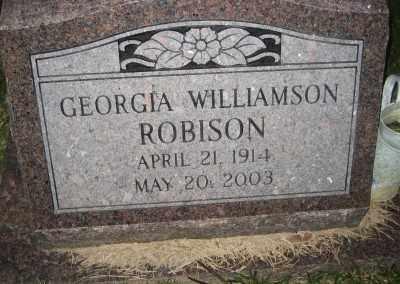 ROBISON, GEORGIA - Ashley County, Arkansas | GEORGIA ROBISON - Arkansas Gravestone Photos