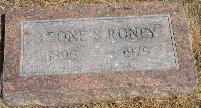 RONEY, LEONE S. - Ashley County, Arkansas   LEONE S. RONEY - Arkansas Gravestone Photos