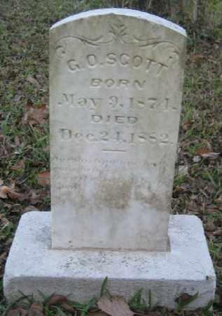SCOTT, G. O. - Ashley County, Arkansas | G. O. SCOTT - Arkansas Gravestone Photos