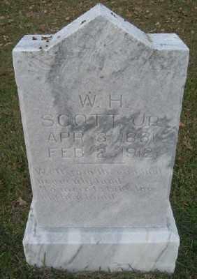 SCOTT, W. H. JR. - Ashley County, Arkansas   W. H. JR. SCOTT - Arkansas Gravestone Photos