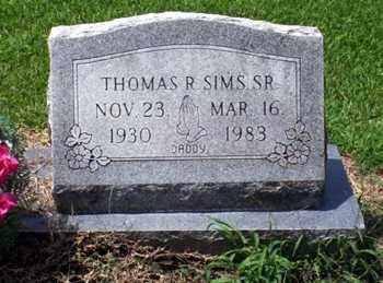 SIMS, THOMAS R. - Ashley County, Arkansas | THOMAS R. SIMS - Arkansas Gravestone Photos