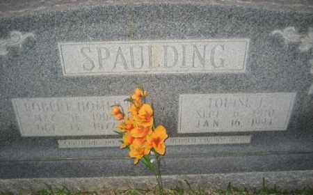 SPAULDING, LOUISE L. - Ashley County, Arkansas | LOUISE L. SPAULDING - Arkansas Gravestone Photos
