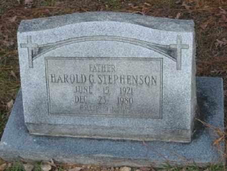 STEPHENSON, HAROLD G. - Ashley County, Arkansas   HAROLD G. STEPHENSON - Arkansas Gravestone Photos