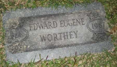 WORTHEY, EDWARD EUGENE - Ashley County, Arkansas | EDWARD EUGENE WORTHEY - Arkansas Gravestone Photos