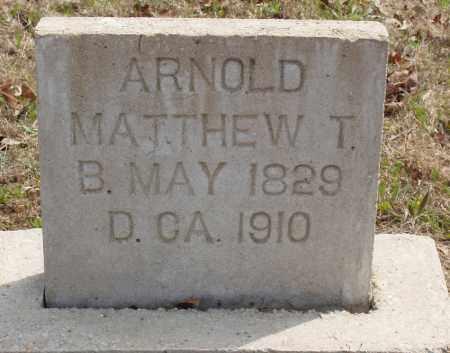 ARNOLD, MATTHEW T - Baxter County, Arkansas | MATTHEW T ARNOLD - Arkansas Gravestone Photos