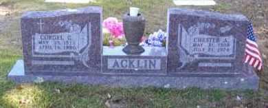 ACKLIN, CORGEL C. - Baxter County, Arkansas   CORGEL C. ACKLIN - Arkansas Gravestone Photos