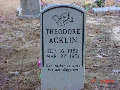 ACKLIN, THEODORE - Baxter County, Arkansas   THEODORE ACKLIN - Arkansas Gravestone Photos