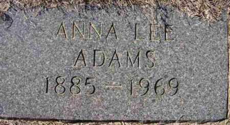 ADAMS, ANNA LEE - Baxter County, Arkansas | ANNA LEE ADAMS - Arkansas Gravestone Photos