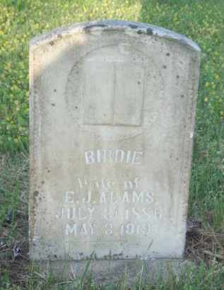 ADAMS, BIRDIE AVIS - Baxter County, Arkansas   BIRDIE AVIS ADAMS - Arkansas Gravestone Photos