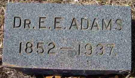 ADAMS, DR. E. E. - Baxter County, Arkansas | DR. E. E. ADAMS - Arkansas Gravestone Photos