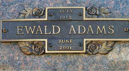 ADAMS, EWALD - Baxter County, Arkansas   EWALD ADAMS - Arkansas Gravestone Photos