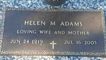 ADAMS, HELEN M. - Baxter County, Arkansas | HELEN M. ADAMS - Arkansas Gravestone Photos