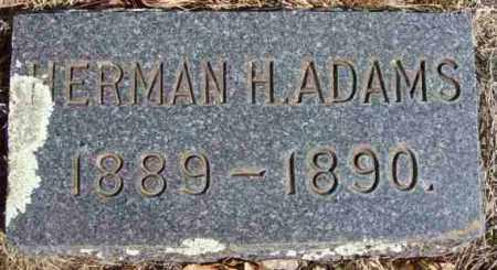 ADAMS, HERMAN H - Baxter County, Arkansas | HERMAN H ADAMS - Arkansas Gravestone Photos