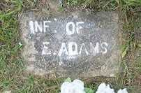 ADAMS, INFANT - Baxter County, Arkansas | INFANT ADAMS - Arkansas Gravestone Photos