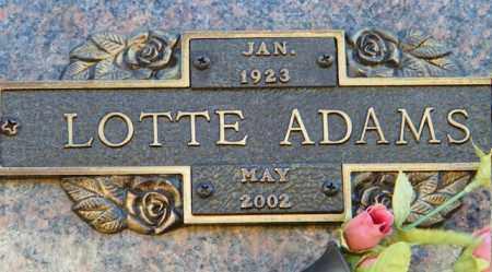 ADAMS, LOTTE - Baxter County, Arkansas   LOTTE ADAMS - Arkansas Gravestone Photos