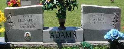 ADAMS, LEONARD V. - Baxter County, Arkansas | LEONARD V. ADAMS - Arkansas Gravestone Photos