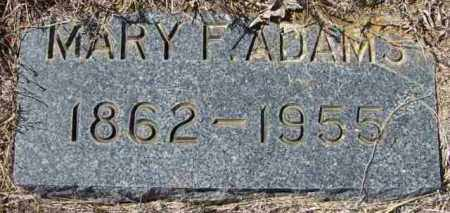 ADAMS, MARY F - Baxter County, Arkansas | MARY F ADAMS - Arkansas Gravestone Photos