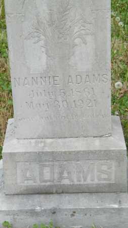 ADAMS, NANNIE - Baxter County, Arkansas | NANNIE ADAMS - Arkansas Gravestone Photos