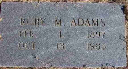 ADAMS, RUBY M - Baxter County, Arkansas | RUBY M ADAMS - Arkansas Gravestone Photos