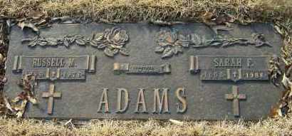 ADAMS, SARAH F - Baxter County, Arkansas | SARAH F ADAMS - Arkansas Gravestone Photos