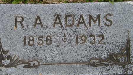 ADAMS, R. A. - Baxter County, Arkansas   R. A. ADAMS - Arkansas Gravestone Photos