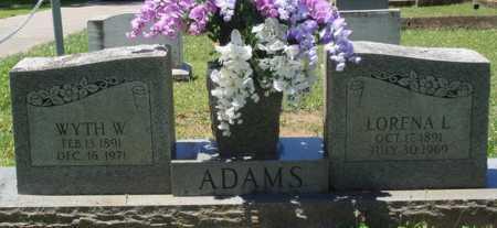 ADAMS, WYTH W. - Baxter County, Arkansas | WYTH W. ADAMS - Arkansas Gravestone Photos