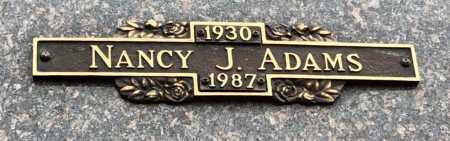 ADAMS, NANCY J. - Baxter County, Arkansas | NANCY J. ADAMS - Arkansas Gravestone Photos