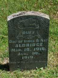 ALDRIDGE, DUFF - Baxter County, Arkansas | DUFF ALDRIDGE - Arkansas Gravestone Photos