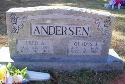 ANDERSEN, FRED A. (OBIT) - Baxter County, Arkansas | FRED A. (OBIT) ANDERSEN - Arkansas Gravestone Photos