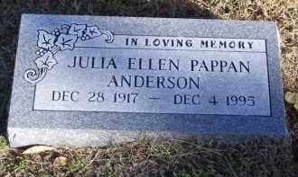 PAPPAN ANDERSON, JULIA ELLEN (OBIT) - Baxter County, Arkansas   JULIA ELLEN (OBIT) PAPPAN ANDERSON - Arkansas Gravestone Photos