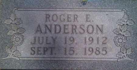 ANDERSON, ROGER E. - Baxter County, Arkansas   ROGER E. ANDERSON - Arkansas Gravestone Photos