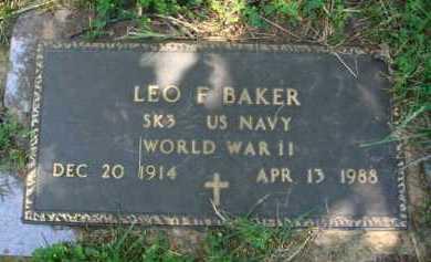 BAKER  (VETERAN WWII), LEO F. - Baxter County, Arkansas | LEO F. BAKER  (VETERAN WWII) - Arkansas Gravestone Photos