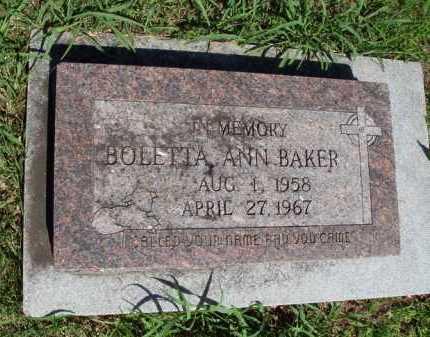 BAKER, BOLETTA ANN - Baxter County, Arkansas   BOLETTA ANN BAKER - Arkansas Gravestone Photos