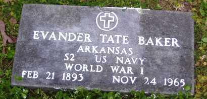 BAKER (VETERAN WWI), EVANDER TATE - Baxter County, Arkansas | EVANDER TATE BAKER (VETERAN WWI) - Arkansas Gravestone Photos