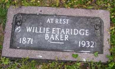 BAKER, WILLIE - Baxter County, Arkansas   WILLIE BAKER - Arkansas Gravestone Photos