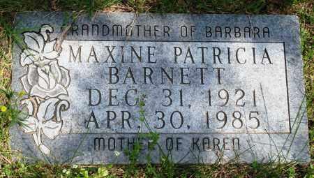 BARNETT, MAXINE PATRICIA - Baxter County, Arkansas   MAXINE PATRICIA BARNETT - Arkansas Gravestone Photos
