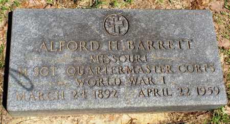 BARRETT (VETERAN WWI), ALFORD H - Baxter County, Arkansas | ALFORD H BARRETT (VETERAN WWI) - Arkansas Gravestone Photos